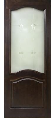 Дверь ДО 7 Тёмный лак, Стекло Мателюкс