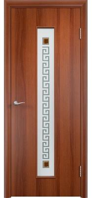 Дверь Verda ПО С17(ф) Квадрат Итальянский орех