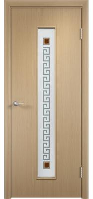 Дверь Verda ПО С17(ф) Квадрат Беленый дуб