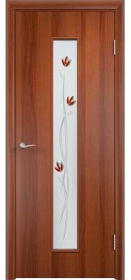 Дверь Verda ПО С17(ф) Тюльпан Итальянский орех