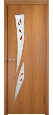 Дверь Verda ПО С2 Витраж Миланский орех