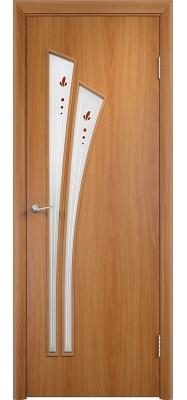 Дверь Verda ПО С7 Витраж Миланский орех