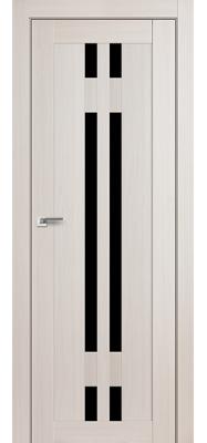 Дверь 40X ЭшВайт Мелинга Чёрный триплекс
