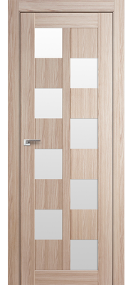 Дверь 36X Капучино Мелинга Белый триплекс